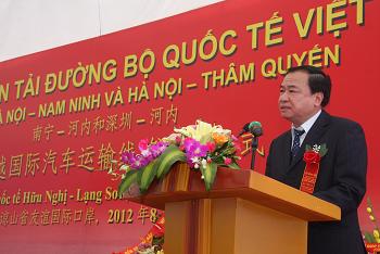 Thông xe vận tải đường bộ quốc tế Việt Nam - Trung Quốc